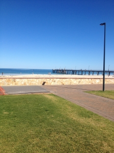 Jetty at Glenelg - great spot to stretch out after a run
