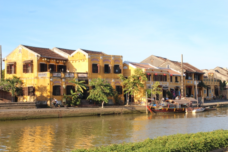Riverside in the old town in Hoi An