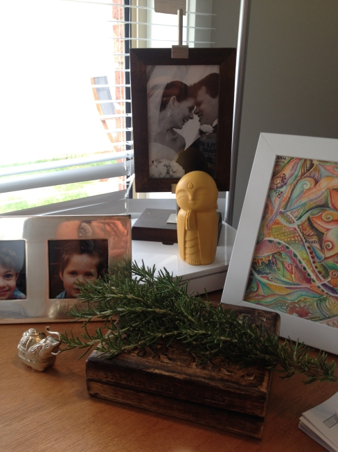 Inspiration in my study space - including rosemary to boost the memory