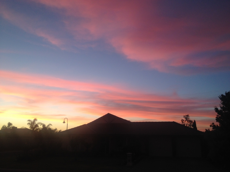 An incredible sunset in Tanunda - November 2014