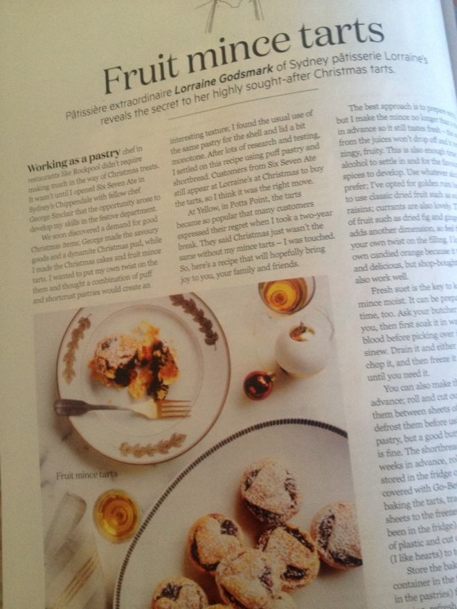Fruit mince tart recipe, Gourmet Traveller December 2014