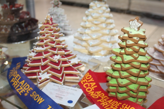 Inspired by these gingerbread star Christmas trees we saw at the Adelaide Show