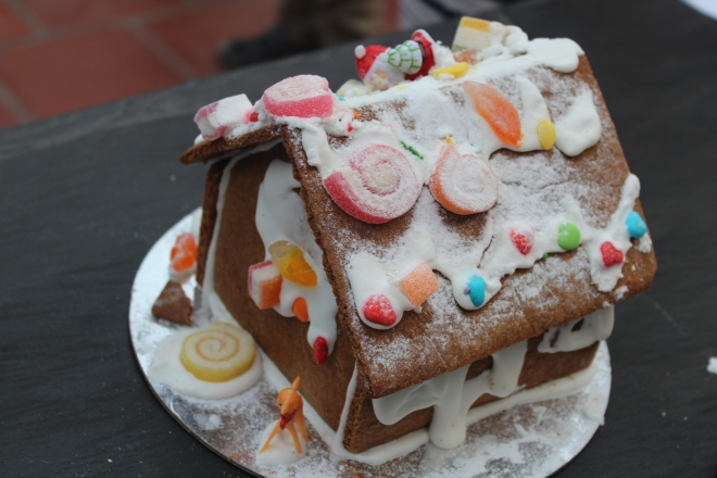 Christmas Gingerbread Houses made by Hanoi Cooking Centre and decorated by our boys, a Hanoi tradition
