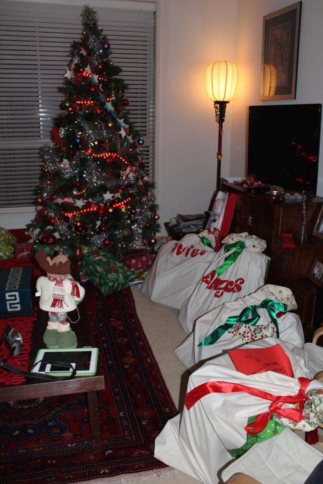 Santa has been!