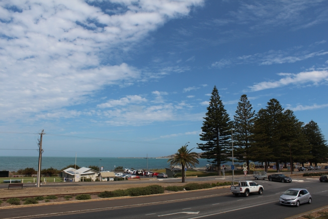 View from our apartment in Victor Harbor