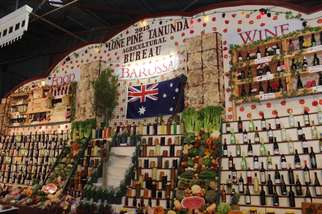 The Tanunda Lone Pine Agricultural Bureau Display - the centrepiece of the show hall displays
