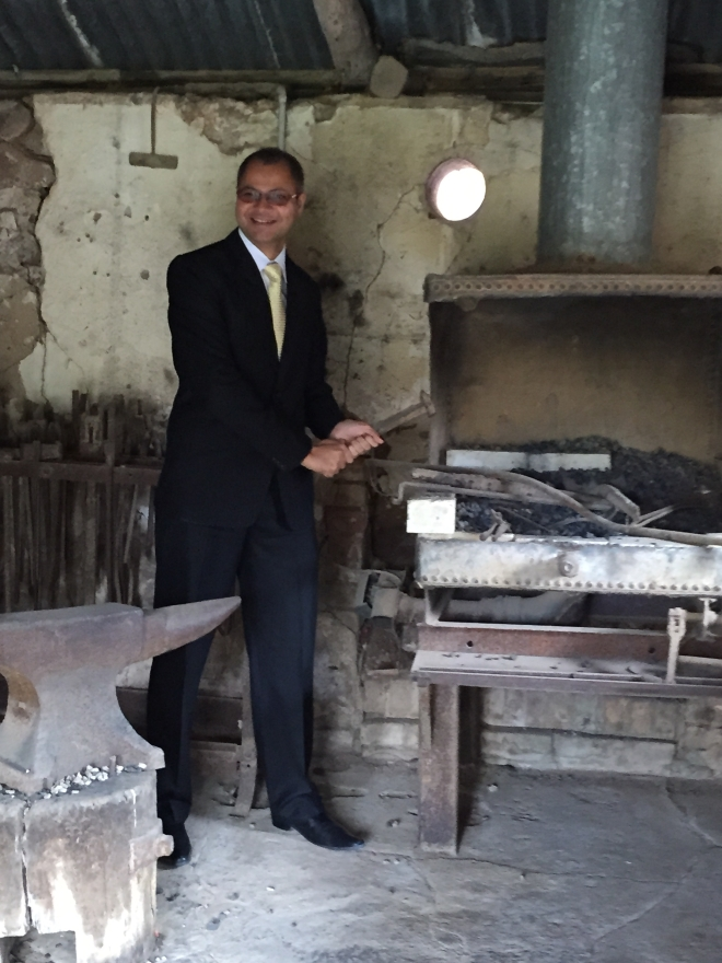 Kamal in the old blacksmith's forge