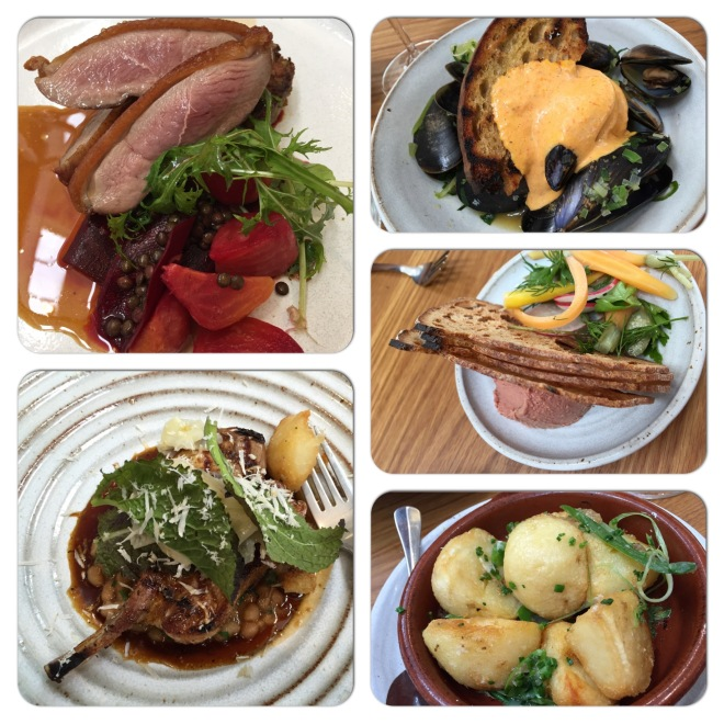 A selection of the dishes from Fino at Seppeltsfield, May 2015