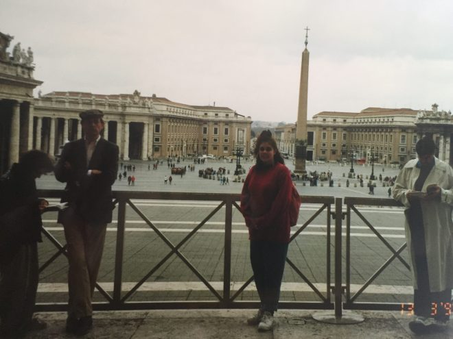 At the Vatican, March 1992