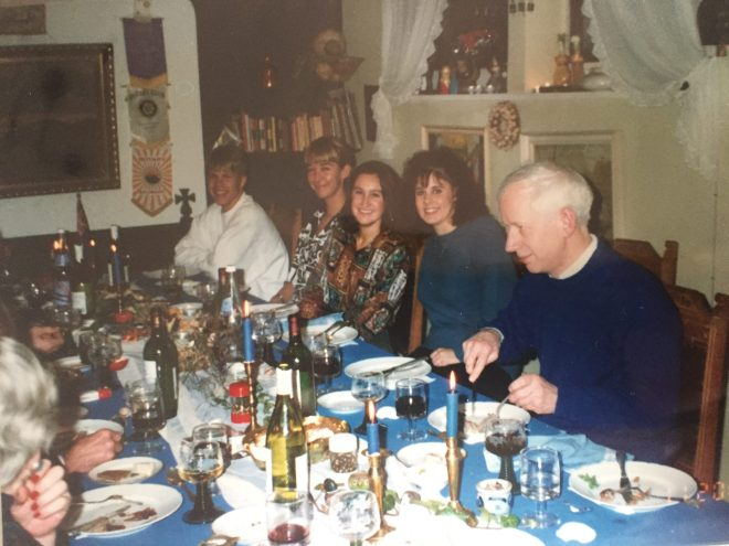 My first dinner party in Denmark - the day after I arrived - January 1992 (and have just realised I now have some of those wine glasses I bought here in the Barossa)